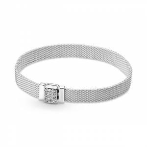 Bilde av Pandora reflexions mesh bracelet with cubic
