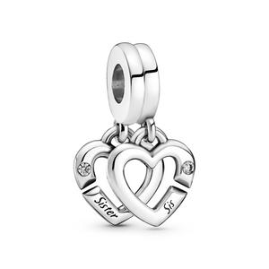 Bilde av Pandora Linked Sister Hearts Split charm