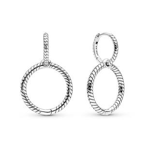 Bilde av Pandora double hoops earrings